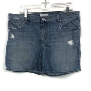 LOFT DENIM DISTRESSED SHORTS 12